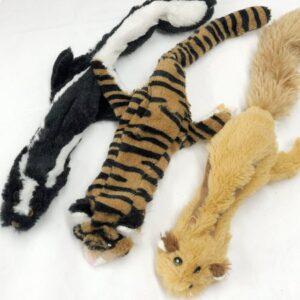 streifenhoernchen, stinktier und tiger mit zwei quietschern