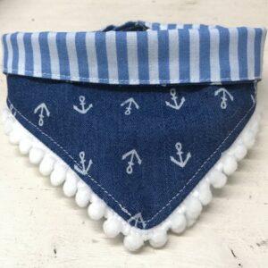 bandana mit anker and stripes blau