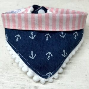 bandana mit anker and stripes pink