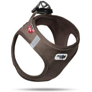curli hundegeschirr vest harness cord braun