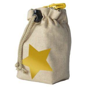 leckerlibeutel beige gold sterne