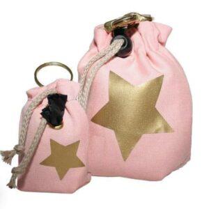 leckerlibeutel pink mit gold stern