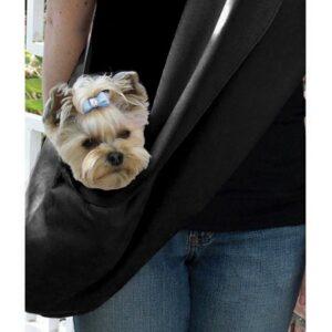 hundebag cuddle black