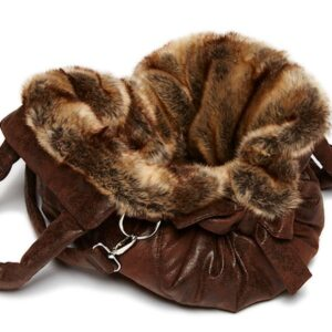 hundetasche bellagio brown chinchilla