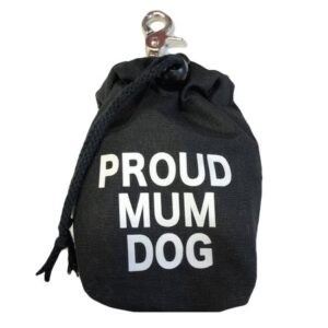 leckerlibeutel schwarz proud dog mum