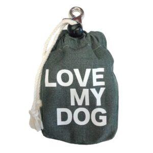 leckerlibeutel tannen gruen love my dog