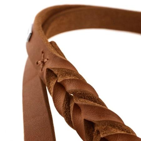 hunter hundehalsband solid braun