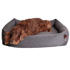 hundebett sleepy deluxe tweed taube
