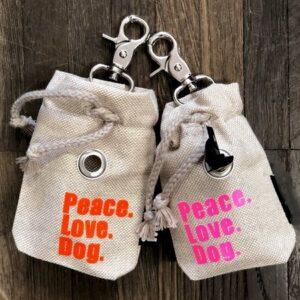 poop bag peace love dog