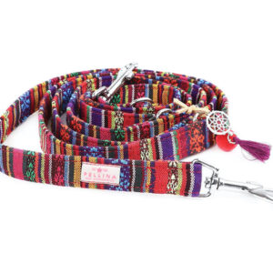 hundeharness boho red