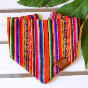 peruvian bandana pink orange