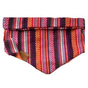 peruvian bandana purple pink