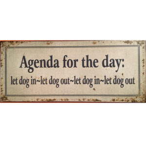 hunde aufhaenger agenda for the day