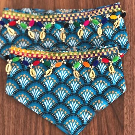 boho bandana blue