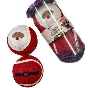 santa tennis balls