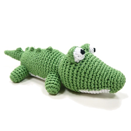 organic dog toy alligator