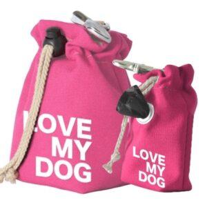 leckerlibeutel pink love my dog