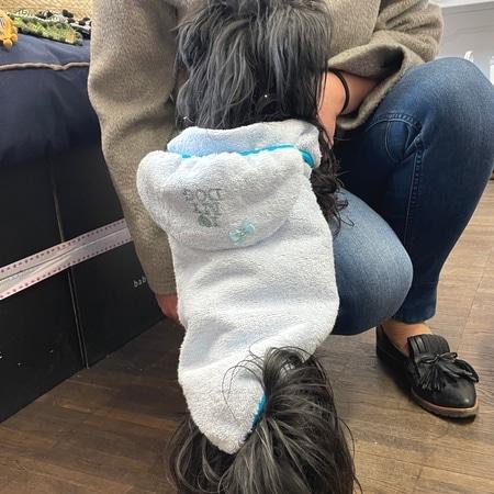 frottee bademantel i love my dog