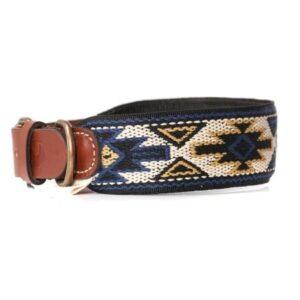 peruvian hundehalsband peyote azul