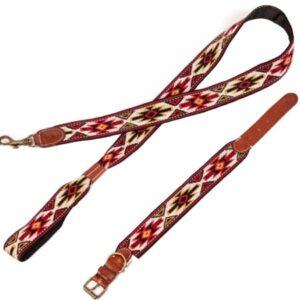 peruvian hundehalsband peyote rojo