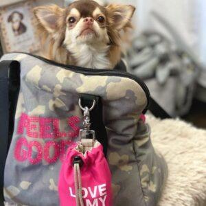 camouflage bag von i love my dog pink