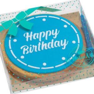 happy birthday cake blue