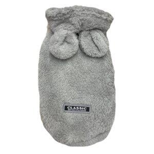 hoodie teddy in love grau