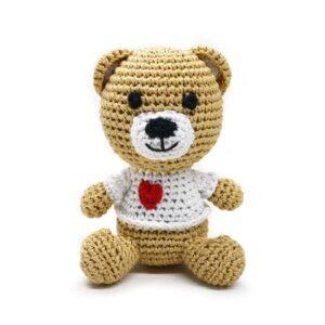 organic dogtoy heart bear