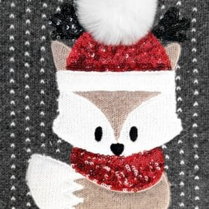 cable sweater fox